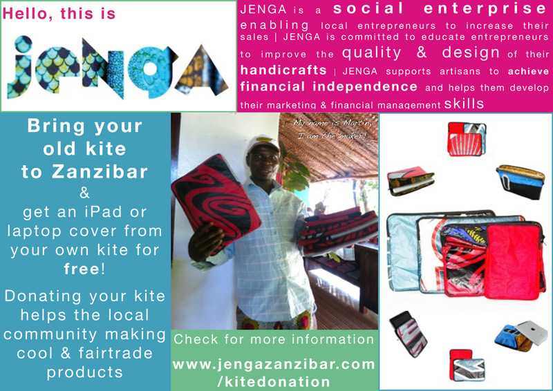Donate your old kite on Zanzibar and help local entrepreneurs in